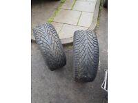 2 tyres 255/55 16
