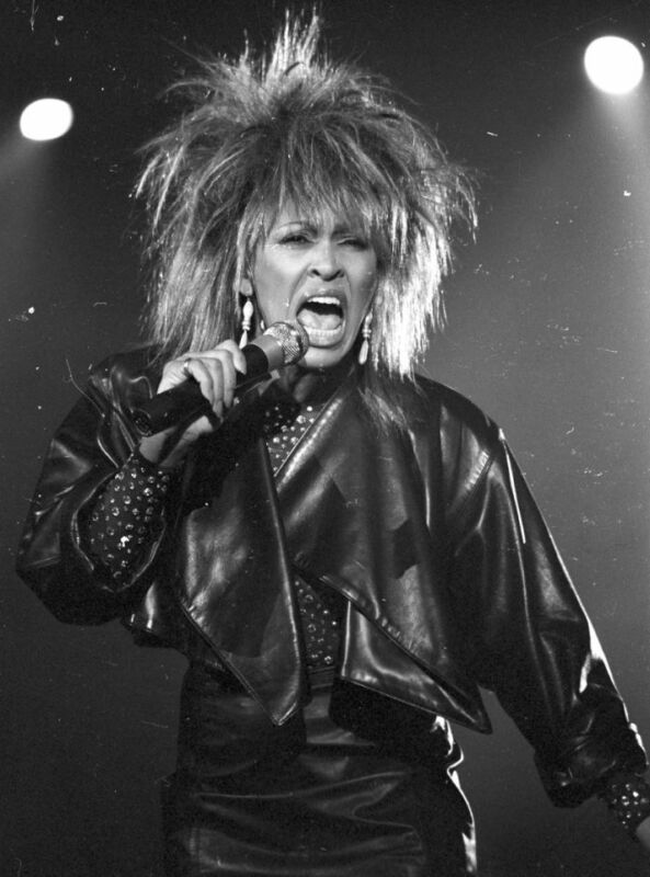 Tina Turner Singing Black And White  8x10 Photo Print