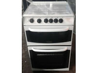 b158 white cannon 55cm gas cooker comes with warranty can be delivered or collected