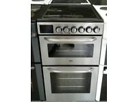 g063 stainless steel zanussi 50cm electric cooker comes with warranty can be delivered or collected