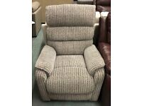 Rise and recliner fabric chair