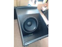 """18"""" bass sub speakers. pair awesome low end"""