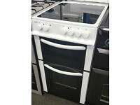H164 white bush 50cm ceramic electric cooker comes with warranty can be delivered or collected
