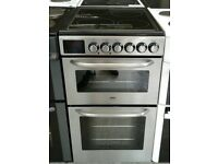 d063 stainless steel zanussi 50cm electric cooker comes with warranty can be delivered or collected
