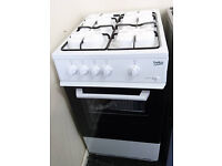 *71 white beko 50cm gas cooker comes with warranty can be delivered or collected