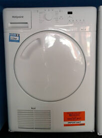 p358 white hotpoint 8kg B rated condenser dryer comes with warranty can be delivered or collected