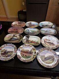 Train display plates
