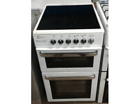 a131 white flavel 50cm ceramic hob electric cooker comes with warranty can be delivered