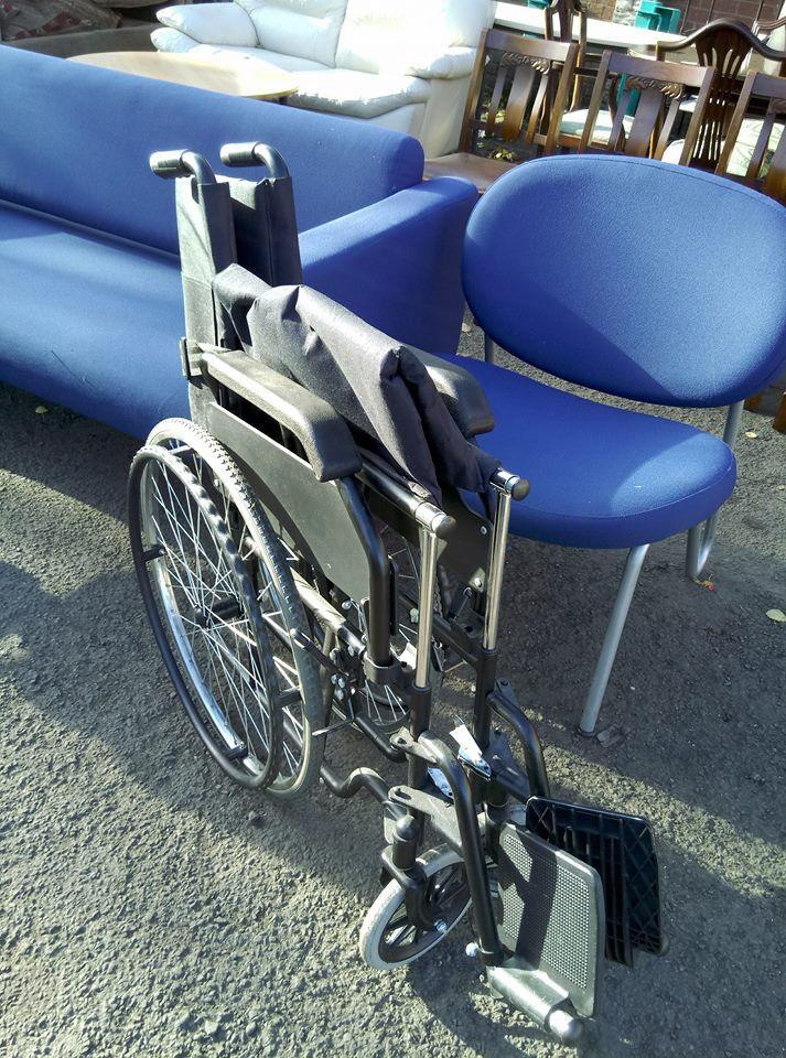 Fold away wheelchair