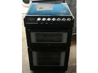 a120 black zanussi 55cm ceramic double oven electric cooker comes with wqarranty can be delivered