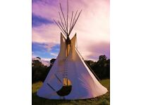 Tipi Tipee tent 7m Sleeps 10 Free UK Delivery! Canvas Authentic Handmade in India