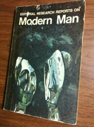 Editorial Research Reports On Modern Man 1971 Vintage United States Ex Library - $5.46
