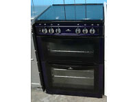Z581 metallic purple 60cm double electric oven gas cooker comes with warranty can be delivered