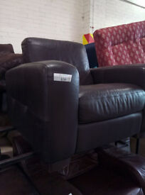 Brown leather armchair in great condition