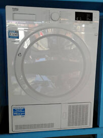 B149 white beko 8kg B rated condenser dryer new graded with 12 month warranty can be delivered