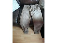 mens bench cuffed pants