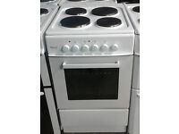 b693 white teknix 50cm solid ring electric cooker comes with warranty can be delivered or collected