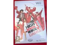 Wii HIGH SCHOOL MUSICAL DANCE GAME for sale Boxed £5