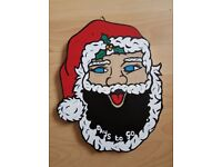 Handcrafted Mdf 'Countdown to Christmas Santa' For Sale