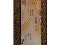 Lorena McKennitt London Palladium ticket fo r 13 March 2017, 7pm, in Stalls, S 46