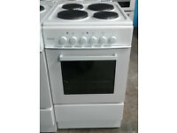 o696 white Teknix 50cm solid ring electric cooker comes with warranty can be delivered or collected
