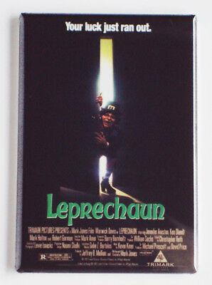 Leprechaun luck just ran out movie poster FRIDGE MAGNET Scary Horror L9](Leprechaun Scary)