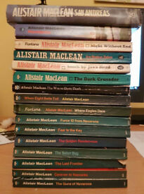 Collection of 15 paperbacks and one hard back by Alastair Maclean