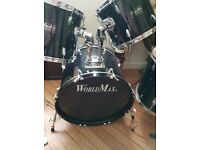 WORLD MAX SERIES 2 DRUM KIT.FULL SIZE . LIKE NEW