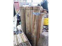 4 Solid Wooden Bollards