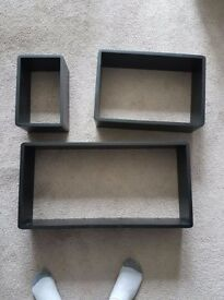 Never used - floating box shelves