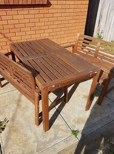 Wooden Outdoor furniture setting Yagoona Bankstown Area Preview