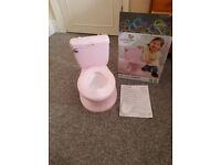pink toilet potty