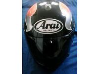 Used ; Arai Quantum E Helmet Size 57-58 cms (medium)