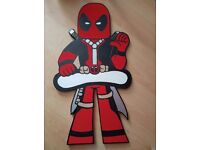 Handmade MDF 'Deadpool' Wall/Door Plaque (ready for that special name)