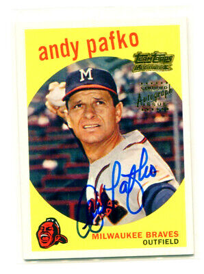 ANDY PAFKO 2001 Team Topps Legends 1959 Auto Autograph Signature Signed Card SP