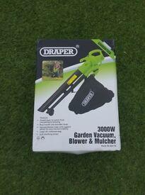 Draper 3000w - Garden/Vacuum/Mulcher - Never used
