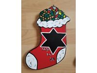 Handcrafted Mdf 'Countdown to Christmas Stocking' For Sale