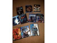 Assorted DVD and Blu-Ray films - Gravity, X-Men, The Revenant, The Dark Knight plus more...
