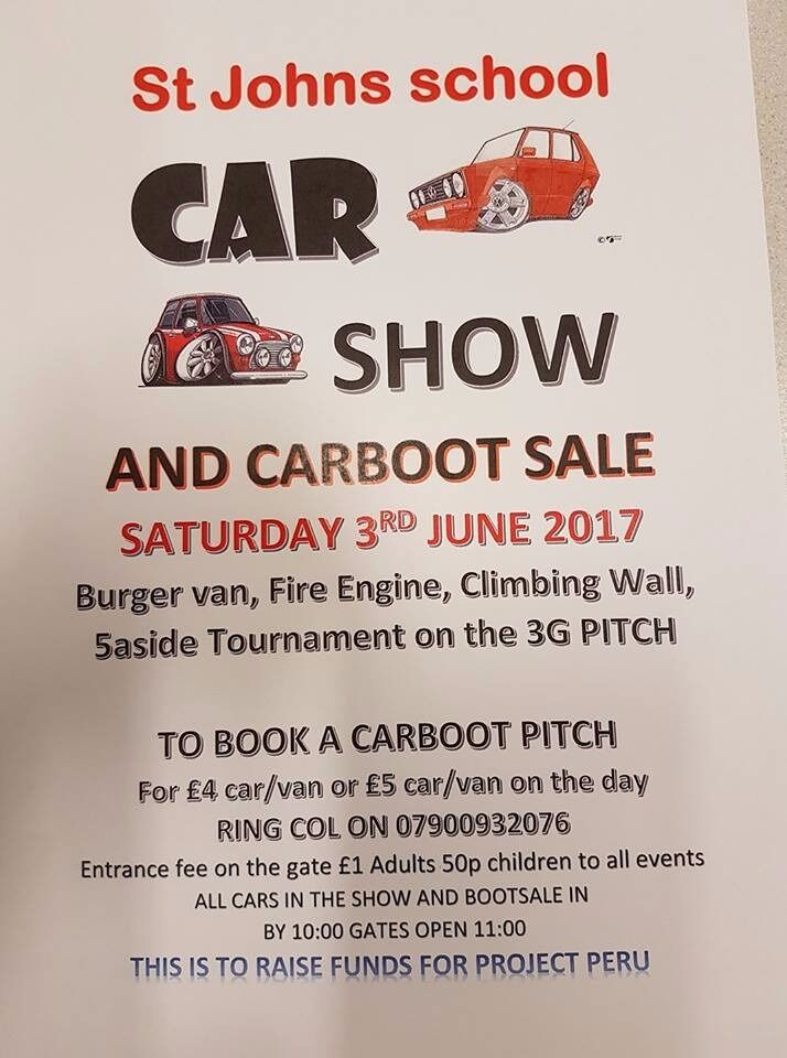 St Johns School Car Show  Car Boot Sale  in Newcastle Tyne and