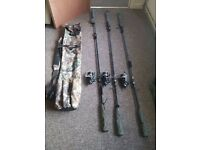 carp tackle, fishing rods, fishing reels, fishing alarms, rod quivery
