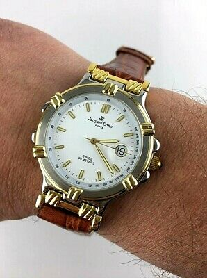 STUPENDO JACQUES EDHO QUARZO UOMO SWISS MADE VINTAGE WATCH NEW OLD STOCK