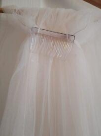 Light Pink - Full Length Double Veil - Diamante Scatter