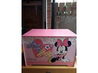 Beautiful Wooden Disney (Minnie Mouse) kids' toy box
