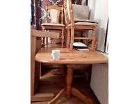 solid pine dining table with 8 chairs 125