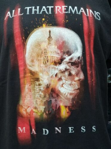 All That Remains Madness Tee Black Size XL Rock Metal Band Tee