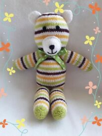 Brand new hand made knitted teddy