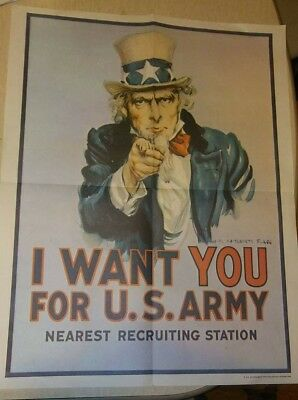 WAR RECRUITMENT ARMY MILITARY KITCHENER PROPAGANDA UK VINTAGE POSTER 1083PY