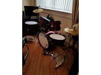 stagg full size drum kit like new