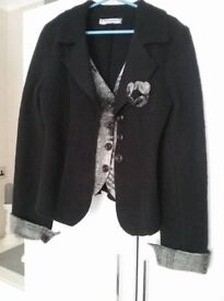 Rinascimento size 10/12 wool jacket with attached waistcoat
