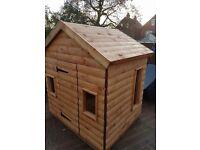childrens log cabin playhouse